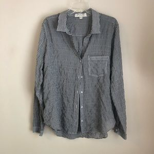 Anthropologie • Cloth & Stone gray striped top